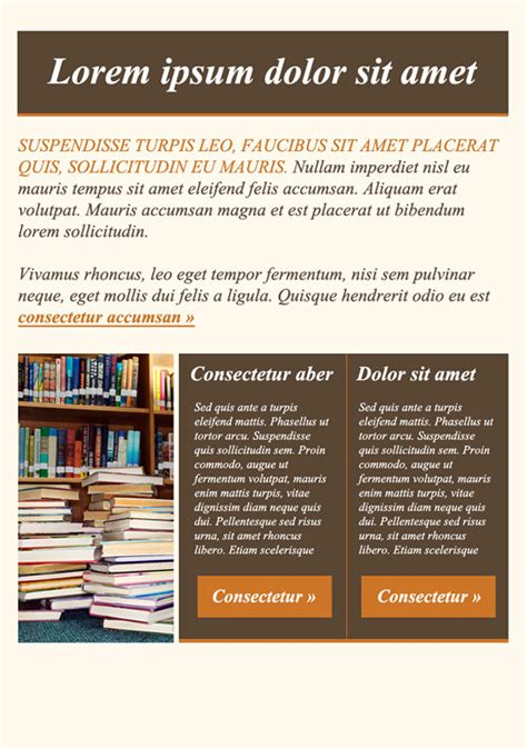 html education templates free education newsletter templates email marketing getresponse