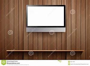 Mur Tv Bois : vecteur tv sur le mur en bois photographie stock image ~ Teatrodelosmanantiales.com Idées de Décoration