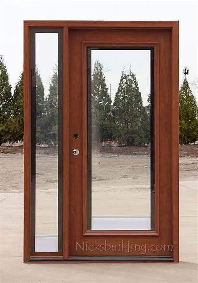 Doors Glass Exterior Entry Shades Between Sidelite