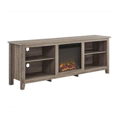 70 tv stand with fireplace 70 quot fireplace tv stand driftwood