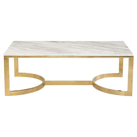 marble brass coffee table nata hollywood white marble brass horse shoe coffee table