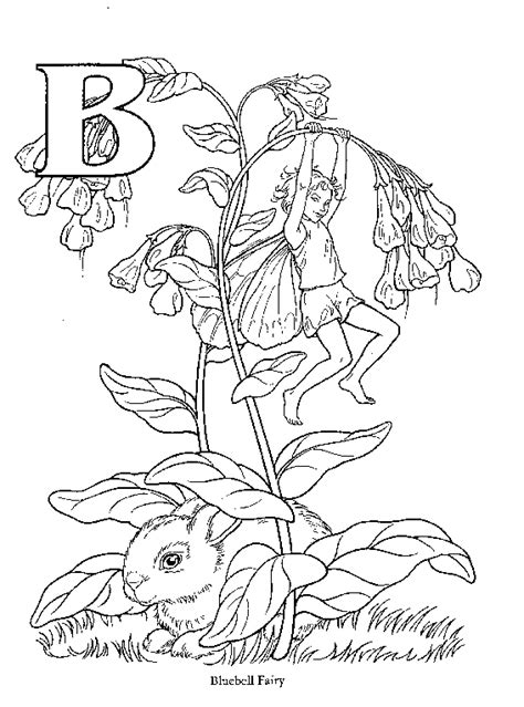 alphabet flower fairy coloring pages getcoloringpagescom