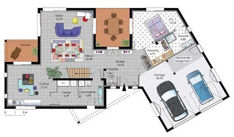 plan villa moderne gratuit plan de maison moderne gratuit le monde de l 233 a