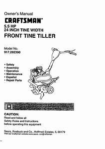 Craftsman Tiller 917 29239 User Guide