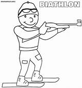 Coloring Winter Olympics Pages Olympic Sport Biathlon Sports Printable Printables Sheets Print Scribblefun Colouring Colorings Skiing sketch template