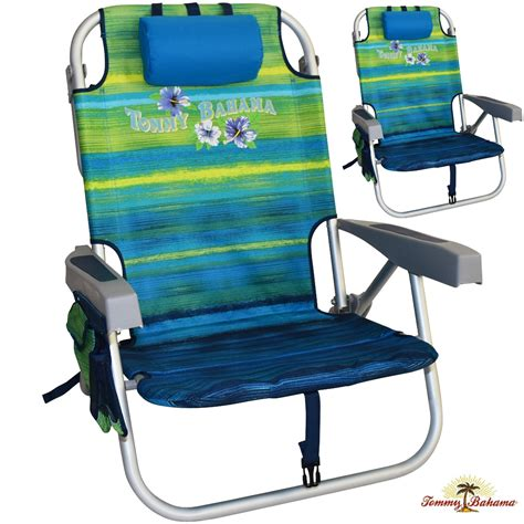 2 tommy bahama backpack cooler beach chairs with towel bar