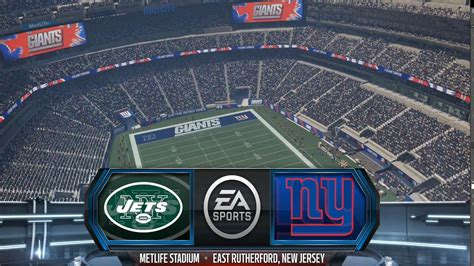 Madden NFL 16 - New York Jets vs New York Giants Gameplay ...