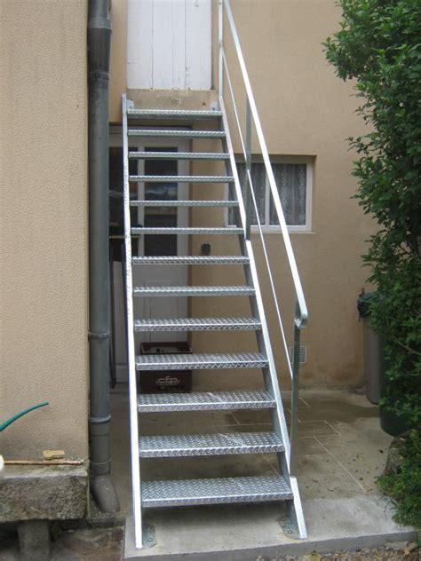 escalier ext 233 rieur en m 233 tal normandie ferronerie artisan ferronnier en normandie et pays d auge