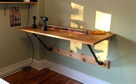 how to make a wall mounted desk wall mounted standing desk desk fan