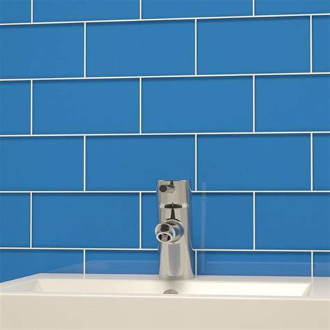 glass subway tile dark blue deko tile