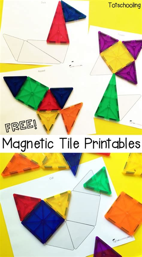 free magnetic tile printables free homeschool deals