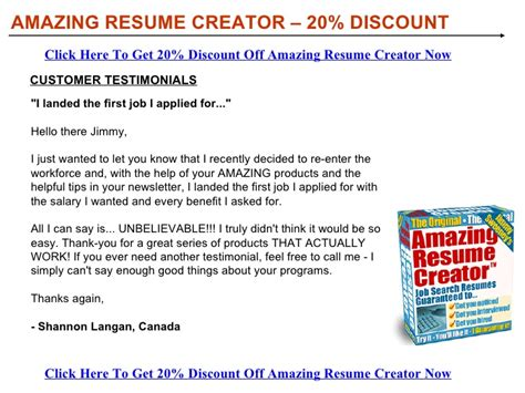 Amazing Resume Creator by Amazing Resume Creator Discount