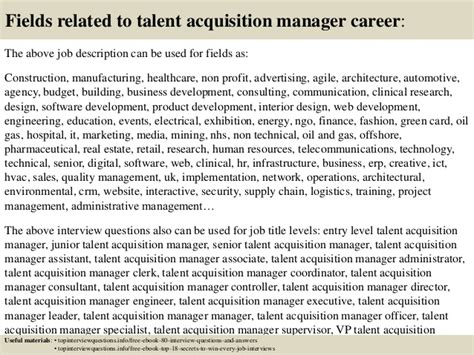 Talent Acquisition Specialist Questions by Top 10 Talent Acquisition Manager Questions And
