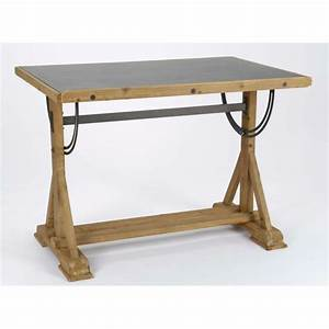 Table Bois Et Noir : table bureau d 39 architecte metal bois et panneau tableau noir ~ Dailycaller-alerts.com Idées de Décoration