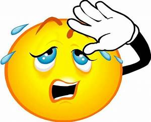 Sweating Face Emoticon - ClipArt Best