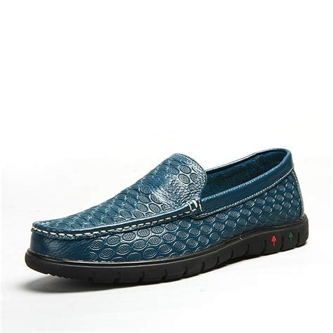 2014 Mens Loafers High Quality Luxury Designer Blue