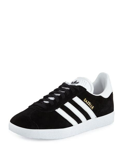 adidas gazelle original suede sneakers blackwhite neiman marcus