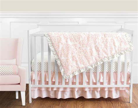 pink and gold crib bedding blush pink gold and white amelia baby bedding 4pc