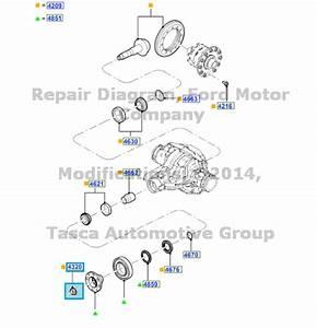 New Oem Rear Differential Flange Locking Nut 2011