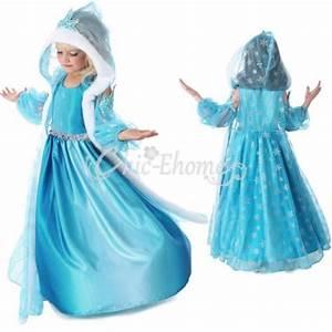 enfant fille robe costume la reine des neiges frozen elsa With robe la reine des neiges