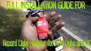 Installing Pnp Hazard Light For Ktm Duke        Rc  200        390
