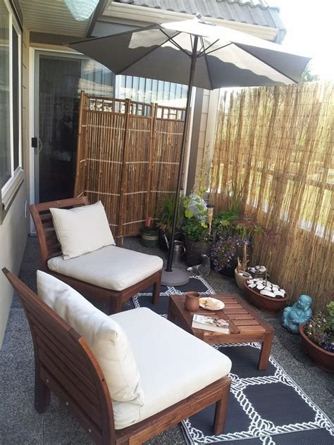 apartment patio privacy apartment patio bamboo fence staradeal