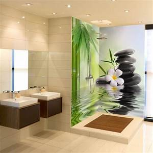 Panneau Mural Etanche Pour Salle De Bain : inspiration carrelage salle de bain avec panneau salle de ~ Premium-room.com Idées de Décoration
