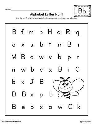 alphabet letter hunt letter b worksheet school stuff letter b worksheets lettering