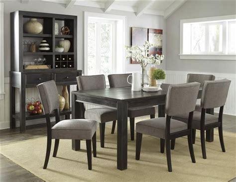 gavelston urbanology black gray wood pc dining room set