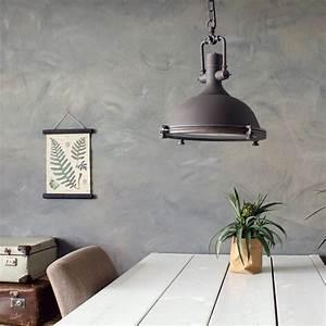 Suspension Luminaire Industriel : suspension industrielle elmo brun 40 cm ~ Teatrodelosmanantiales.com Idées de Décoration