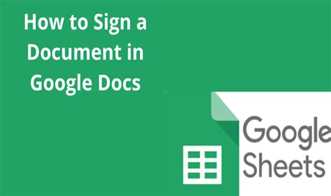 How to Sign a Document in Google Docs - Docs Tutorial