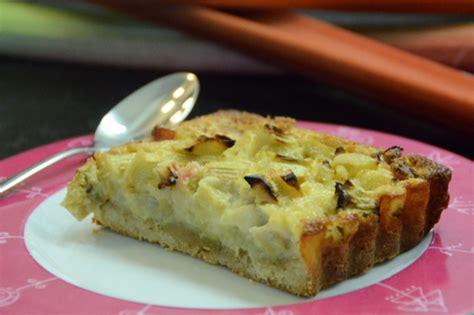 tarte rhubarbe 224 la p 226 te sabl 233 e aux amandes d 233 mente recettes de cuisine de marion flipo