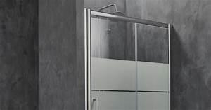 porte de douche par leroy merlin With porte de douche coulissante avec radiateur a eau salle de bain