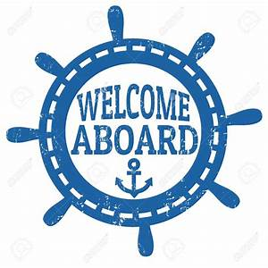 Nautical Welcome Aboard Clipart