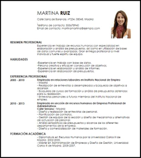 modelo curriculum vitae analista en gesti 243 n de personal