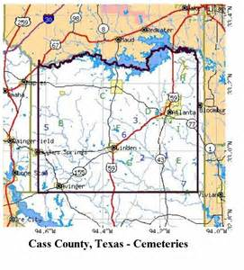 Cass County Texas Map