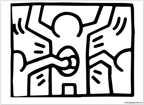 pop shop   keith haring coloring page  coloring pages