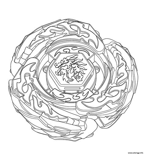 coloriage beyblade burst dessin