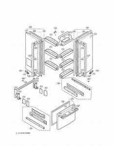 Door Parts Diagram  U0026 Parts List For Model Lrfd22850tt Lg