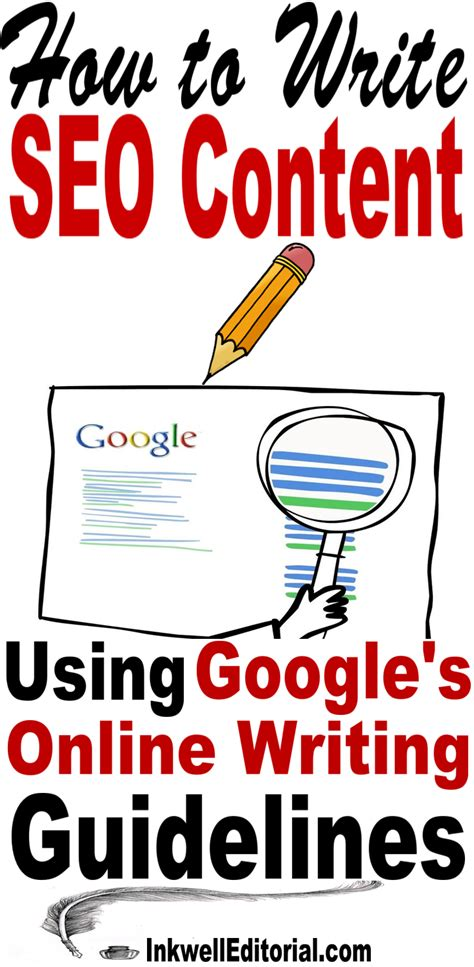 Seo Guidelines - how to write seo content the right way ie using