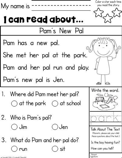 Kindergarten Reading Homework Breadandhearth