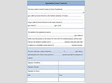 Apartment Lease Agreement Free Printable Example mughals