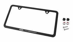 Ford Performance License Plate Frame - Black Stainless Steel - Exterior - 1979-1993 Mustang