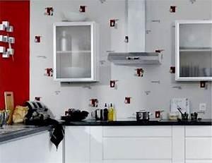 Tapisserie Pour Cuisine : decoration cuisine papier peint ~ Premium-room.com Idées de Décoration