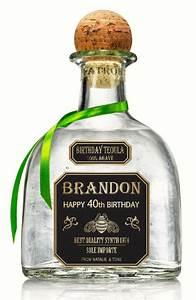 personalized gold tequila patron labels 750 ml by With customized alcohol bottle labels