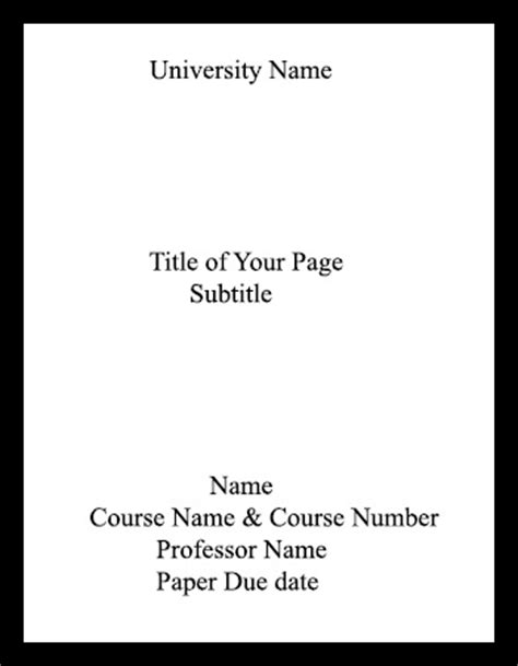 How To Write A Title Page For A Resume by How To Do A Mla Format Title Page Most Efficiently