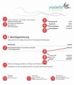 Rechnung Kleinunternehmer Ohne Mehrwertsteuer Vorlage : rechnungs muster die korrekte abschlagsrechnung ~ Haus.voiturepedia.club Haus und Dekorationen