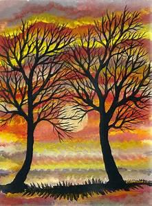 Bilder Bäume Gemalt : abendrot sonnenuntergang silhouette baum von wad24 bei kunstnet ~ Orissabook.com Haus und Dekorationen