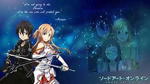 Sword Art Online Wallpaper - Kirito and Asuna by ...