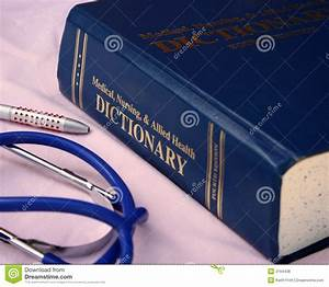 Medical Dictionary Stock Photo  Image Of Medical  Doctors